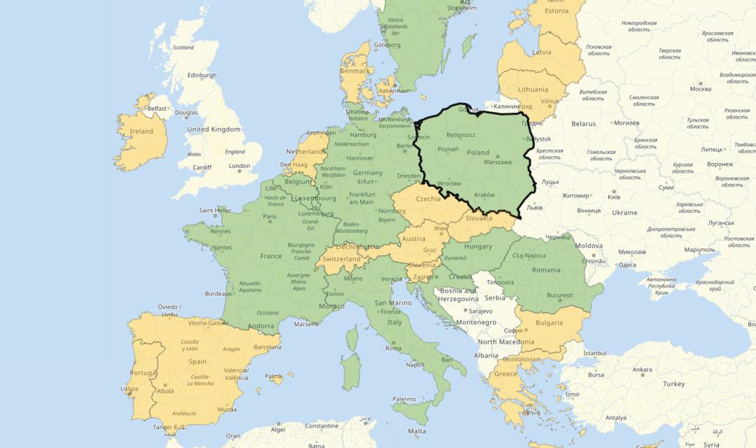 União Europeia com todos os critérios de entrada detalhados para cada país