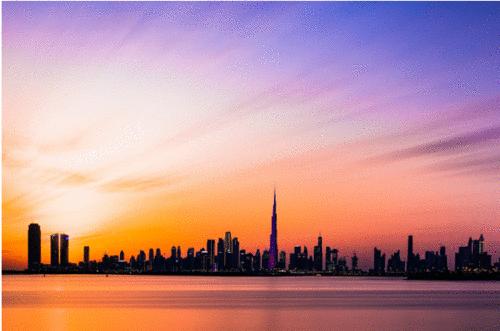 Adesivo de boas-vindas: reabertura de Dubai para visitantes internacionais
